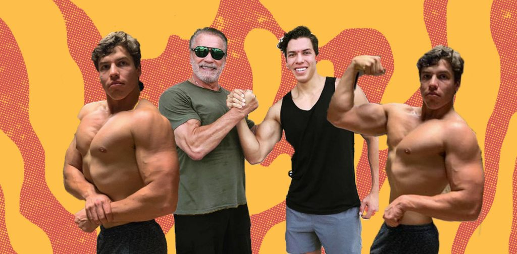 Joseph Baena Arnold Schwarzenegger S 22 Year Old Guatemalan Son