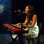 Ximena Sariñana on her keyboard