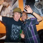 DJ Chef and host Roger Feely (of soulcocina.com) and DJ Apocalypto