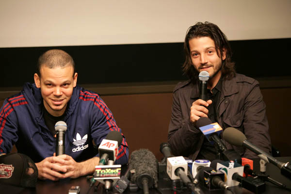 Diego Luna and Calle 13