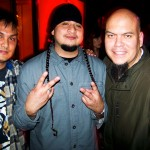Ryan from Press Junkie with Deuce Eclipse and Juan M. Caipo from Bang Data.