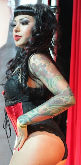 Burlesque girl in LA. Photo courtesy of Punk Outlaw