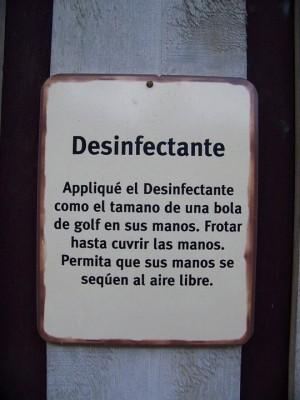 disinfectante