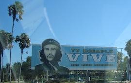 El Che en anuncio. Photo courtesy of Punk Outlaw.