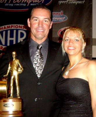 Hoyos and his wife with the NHR championship prize.