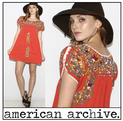 vtg 70s Mexican EMBROIDERED Floral Oaxacan Hippie Boho festival tent Mini DRESS | eBay