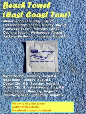 beach towel flyer