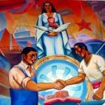 Student art in the Escuela Superior Autonoma de Bellas Artes in Cusco