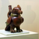 Art pieces in the Museo De La Nacion in Lima ranging from Pre-Colombian times to modern day
