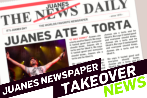 Juanes' New Gig: Newspaper Director for A Day