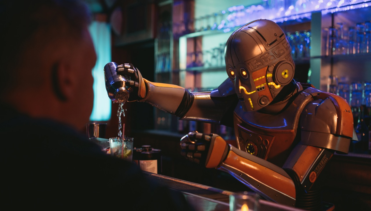 A Bilingual Robot Makes Drinks in Alex Rivera's New Short Film
