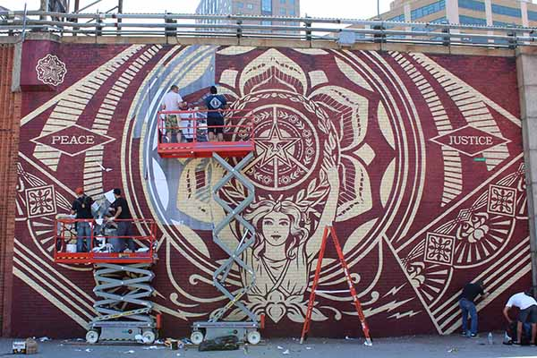 Shepard fairey on art for social change immigration for Mural zapatista
