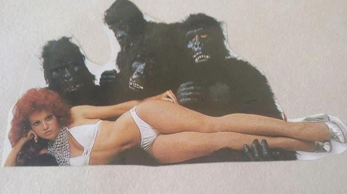Iris Chacon with gorillas