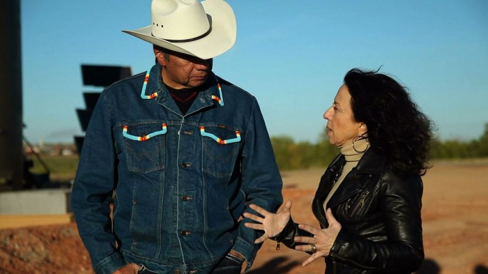 Maria Hinojosa Interviewing on America by the Numbers