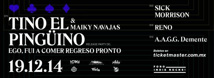 Tino El Pingüino @ Indie Rocks! (DF)