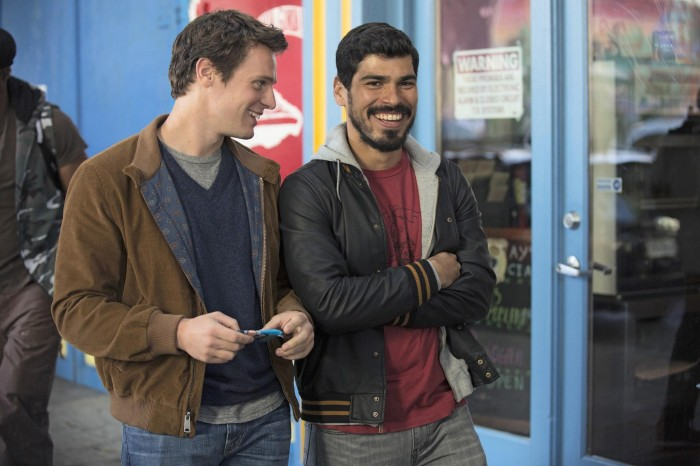 Looking Season 1 Patrick Richie Raul Castillo laughing