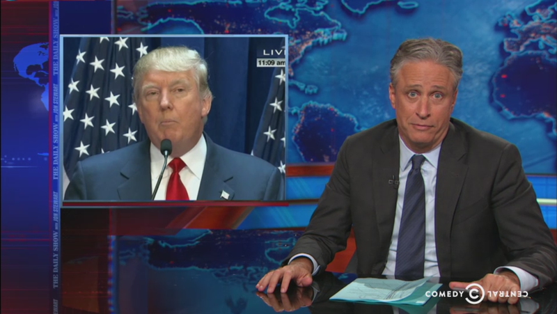 "Watch: Jon Stewart on Donald Trump's Presidential Candidacy, a Comedy ""Gift From Heaven"""