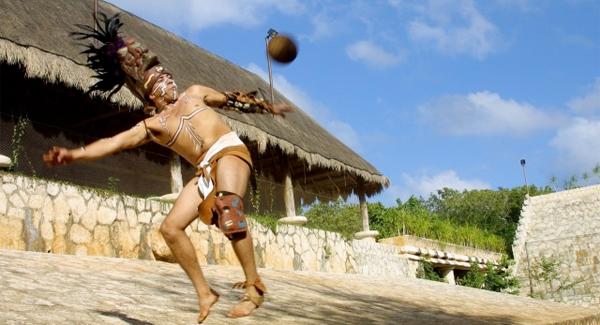 Berlin performance of pok ta pok, a historic Mayan ball