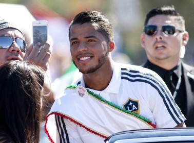 Giovani Dos Santos Hit Up East LA's Mexican Independence Day Parade