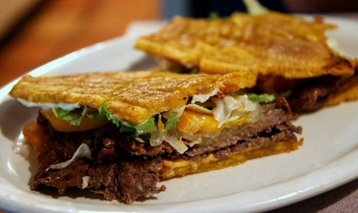 Jibarito sandwich