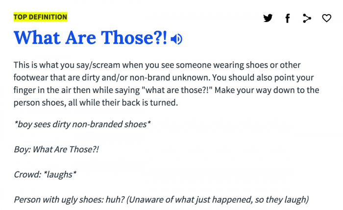 what are those urban dictionary