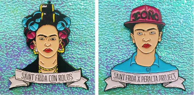 saint frida and the peralta project team up on frida kahlo pin