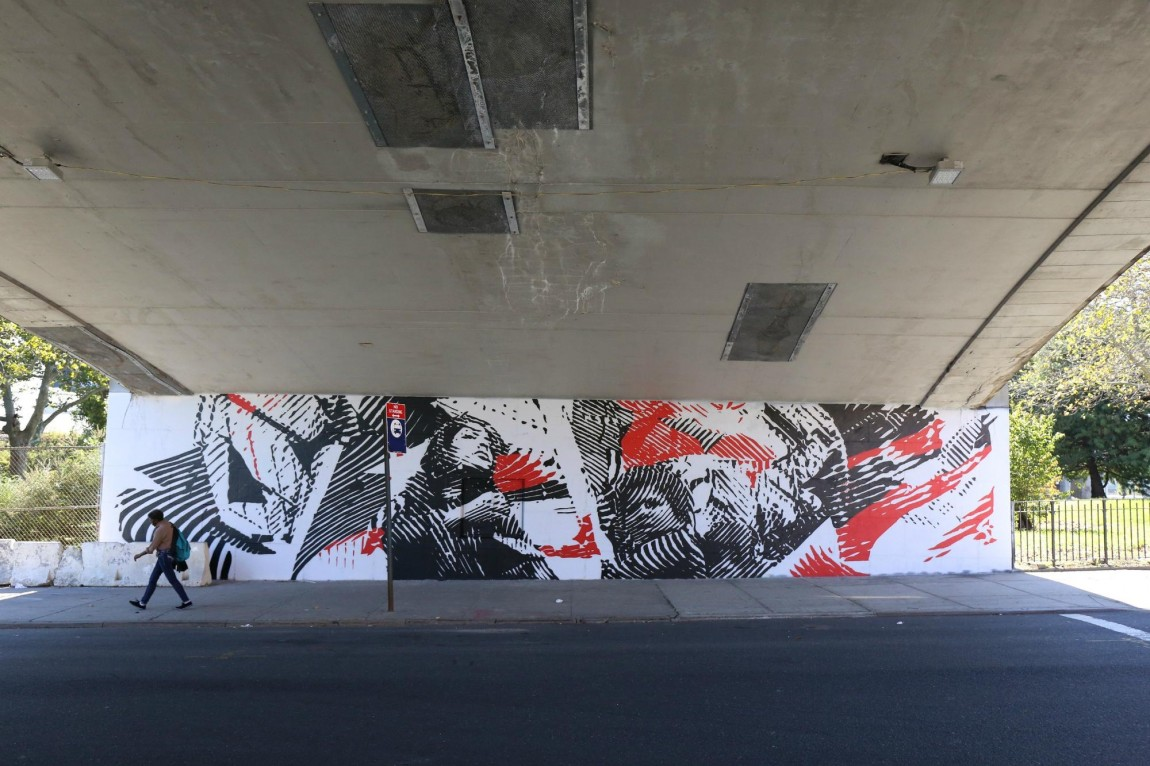Photos monumentart 39 s finished murals in el barrio the bronx for El mural trailer