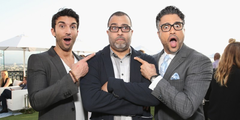 Actors Justin Baldoni, Anthony Mendez, and Jaime Camil. Photo: Todd Williamson/Getty Images
