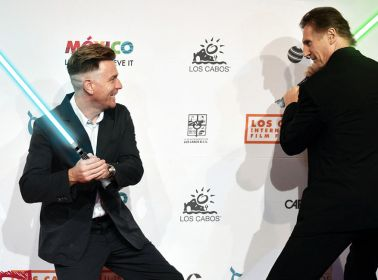 Ewan McGregor Has Fake Lightsaber Fight with Liam Neeson on Red Carpet, Gets Acting Award in Mexico
