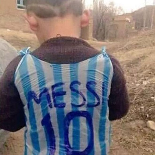 The Internet Is Going Nuts Searching for This Young Messi Fan
