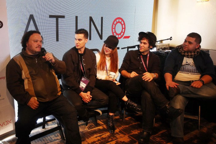 """What Happens When a Great Story Is Cast with Diverse Talent"" Latino Reel panel. Photo: Brian Nicholson for Latino Reel"