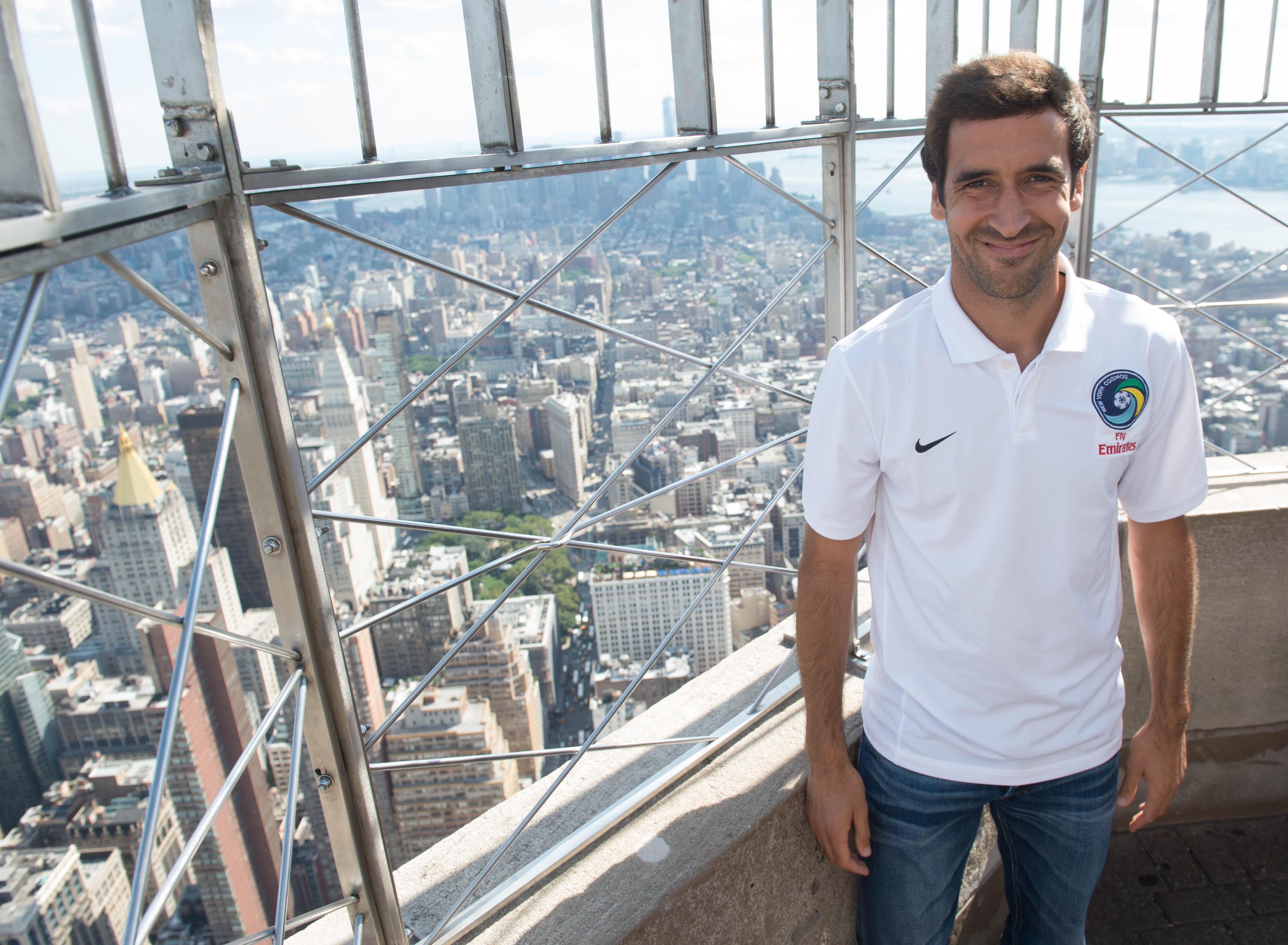 Raúl Embraces the Other Football