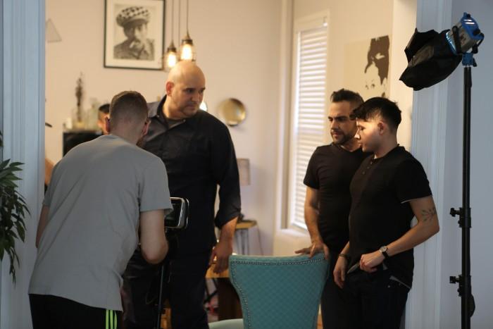 Directors Dominic Colon & Sebastian Rea, Elliot Velez (Chucky) and Mihail Torich (DP)