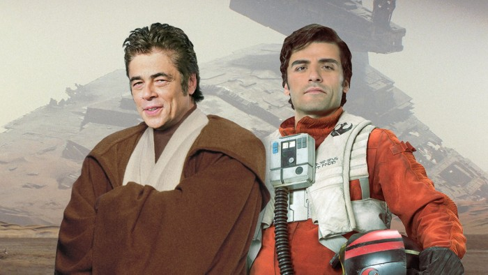 benicio de toro and poe oscar isaac star wars