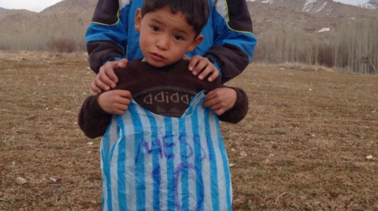 Afghan Boy Who Made Messi Jersey Out of Plastic Bag Gets Two Signed Jerseys