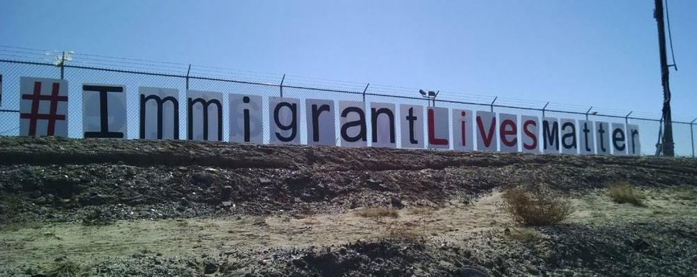 #ImmigrantLivesMatter Sign Pops Up On U.S.-Mexico Border Ahead of Pope Francis' Visit
