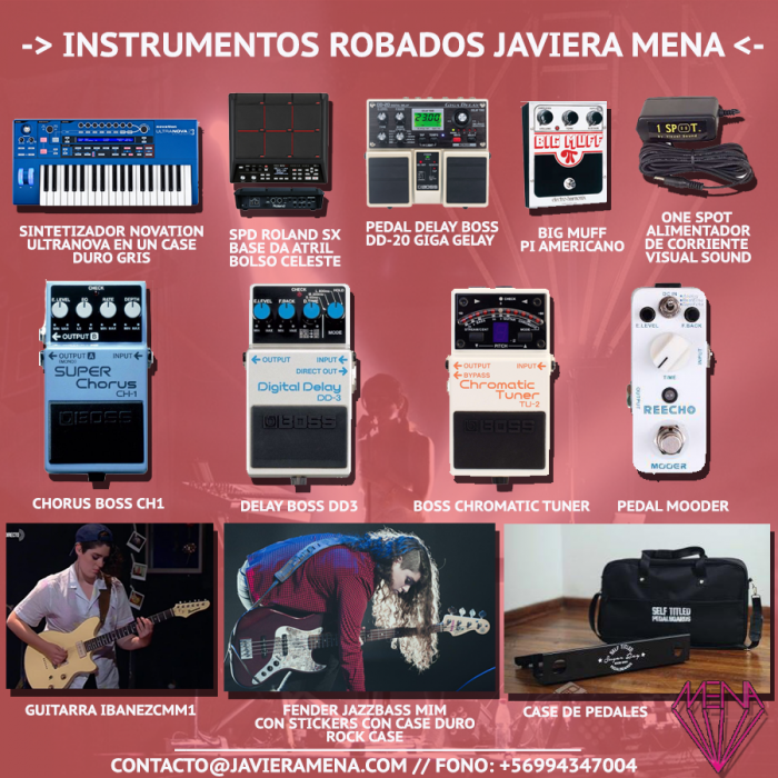 javiera mena equipment