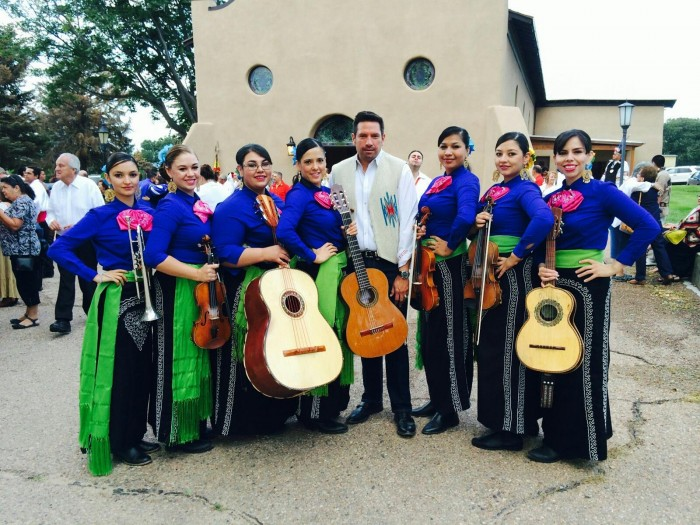 Mariachi Buenaventura with the Santa Fe Mayor at Rosario Chapel