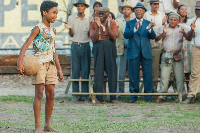 Young Pelé (Leonardo Lima Carvalho) in Jeff and Michael Zimbalist's PELÉ BIRTH OF A LEGEND. Courtesy of Ique Esteves