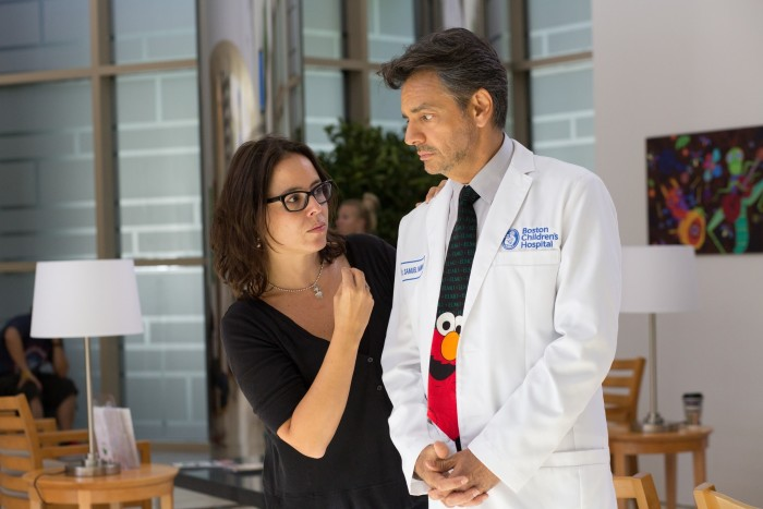 Patricia Riggen and Eugenio Derbez on set of 'Miracles From Heaven'