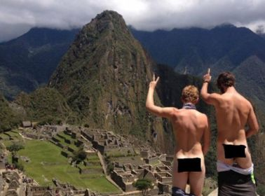 A Brief and Baffling History of People Taking Off Their Chonies at Machu Picchu
