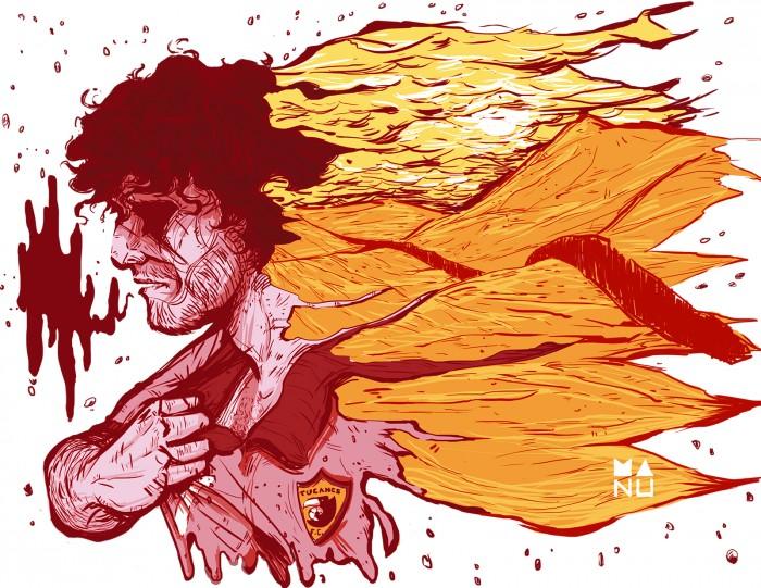 Original Manu Faves illustration for 'The Whistle'