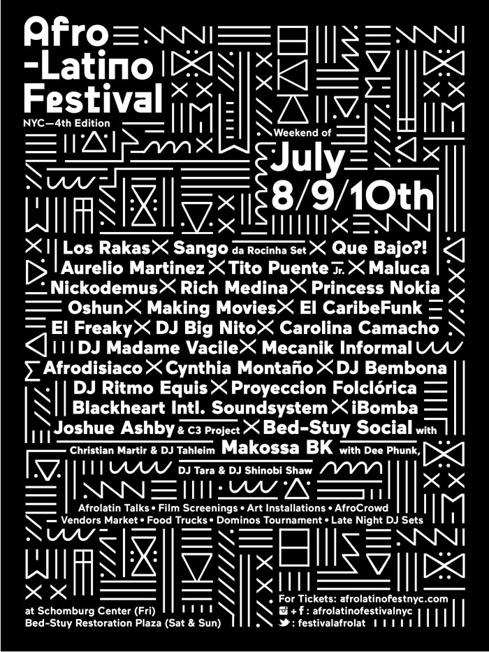 afro-latino fest poster
