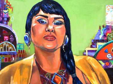 '29 Dolor'. Self portrait by Crystal Galindo