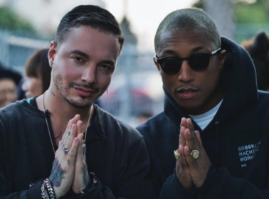J Balvin Is Filming a Music Video With Pharrell