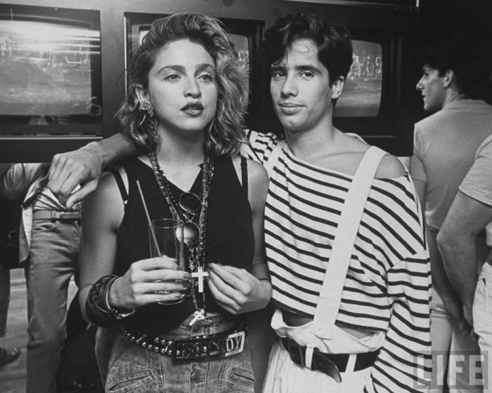 Madonna and Jellybean Benitez in 1984