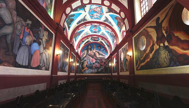 "Diego Rivera, ""Tierra Fecundada (Fertile Land)"" (1927), Chapel of the Universidad Autónoma Chapingo. (© 2016 Banco de México Diego Rivera & Frida Kahlo Museums Trust.  Av. 5 de Mayo No. 2, Col. Centro, Del. Cuauhtémoc 06059, Mexico City.)"