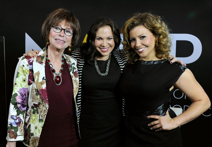 Actors Rita Moreno and Justina Machado and writer Gloria Calderon. Photo by John Sciulli/Getty Images for NALIP