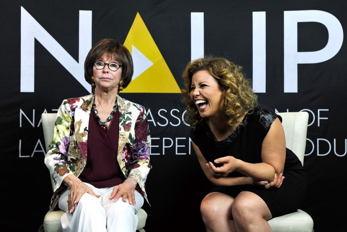 Actors Rita Moreno and Justina Machado. Photo by John Sciulli/Getty Images for NALIP
