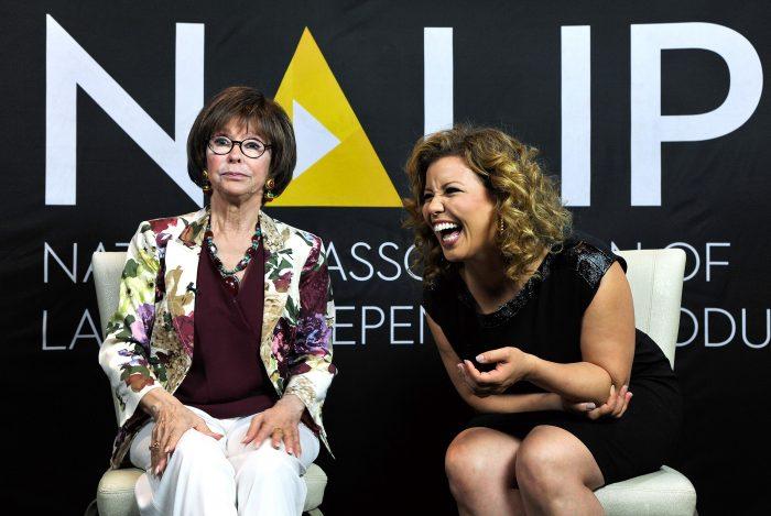 Actors Rita Moreno and Justina Machado. Photo by John Sciulli/Getty Images for NALIP